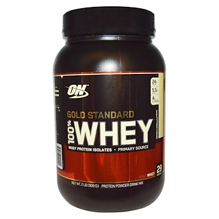 Optimum Nutrition, Gold Standard, 100% Whey, French Vanilla Crème, 2 lbs (909 g)