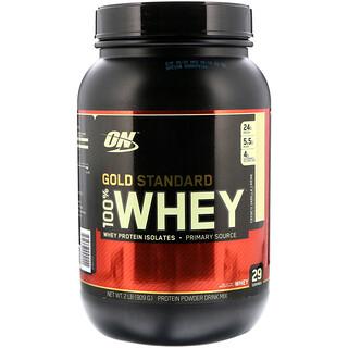 Optimum Nutrition, Gold Standard, 100% Whey, French Vanilla Crème, 2 lbs (909 g)