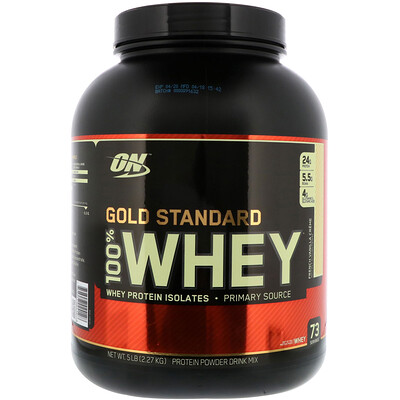 Купить Optimum Nutrition Gold Standard 100% Whey, сыворотка со вкусом французского ванильного крема, 2, 27 кг (5 фунтов)