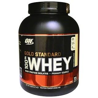 Optimum Nutrition, Gold Standard, 100% Whey, French Vanilla Crème, 5 lbs (2.27 kg)