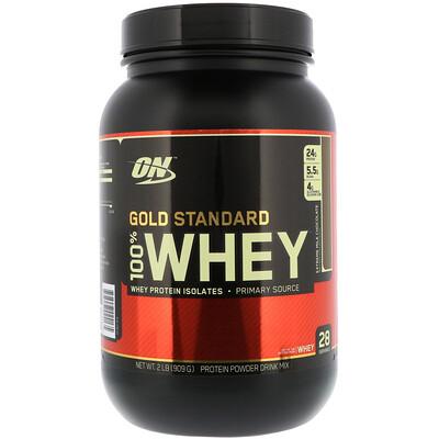 Купить Optimum Nutrition 100% молочная сыворотка, золотой стандарт, с арматом молочного шоколада, 2 фунта (912 г)