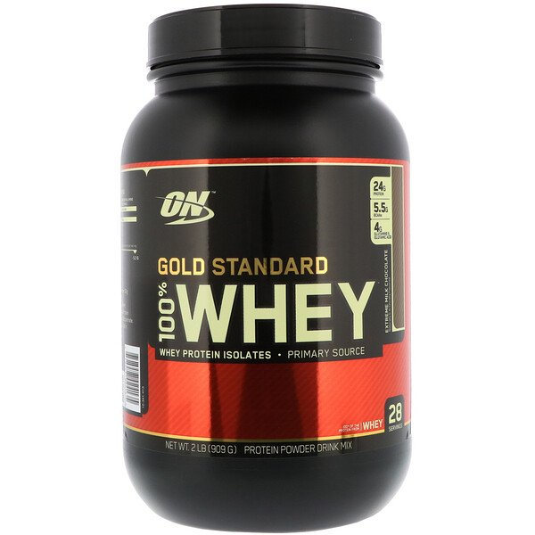 Gold Standard 100% Whey, Extreme Milk Chocolate, 2 lbs (909 g)
