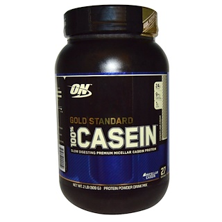 Optimum Nutrition, Gold Standard, 100% Casein, Cookies and Cream, 2 lbs (909 g)