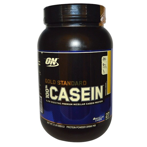 Optimum Nutrition, Gold Standard 100% Casein, Banana Cream, 2 lbs (909 g)
