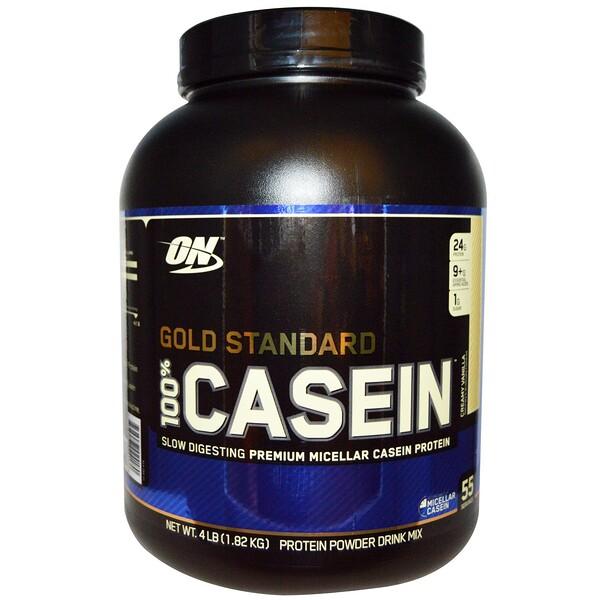 Optimum Nutrition, 100% Casein Gold Standard, Creamy Vanilla, 4 lbs (1818 g) (Discontinued Item)