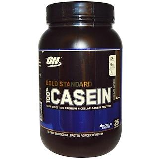 Optimum Nutrition, Gold Standard, 100% Casein, Chocolate Supreme, 2 lbs (909 g)