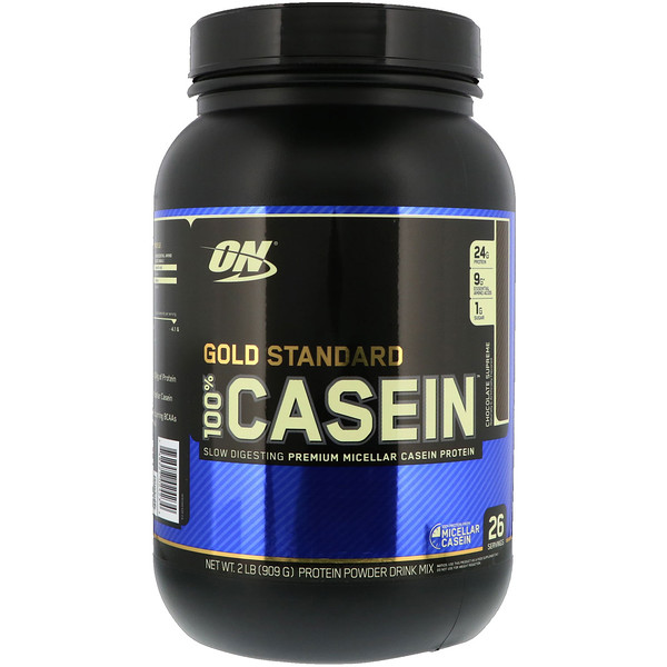 Optimum Nutrition, Gold Standard, 100% Casein, Chocolate Supreme, 2 lbs (909 g)