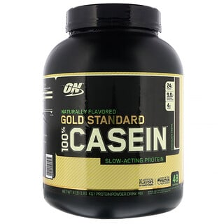 Optimum Nutrition, Gold Standard, 100% Casein, Naturally Flavored, Chocolate Creme, 4 lbs (1.81 kg)