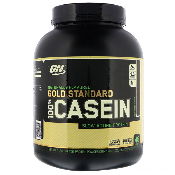 Optimum Nutrition, Gold Standard 100% Casein, Naturally Flavored, Chocolate Creme, 4 lbs (1.81 kg)