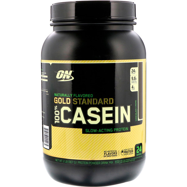 Gold Standard 100% Casein, Naturally Flavored, Chocolate Creme, 2 lbs (907 g)