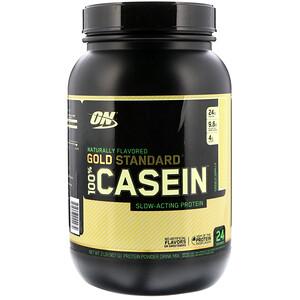 Оптимум Нутришэн, Gold Standard 100% Casein, Naturally Flavored, French Vanilla, 2 lbs (907 g) отзывы