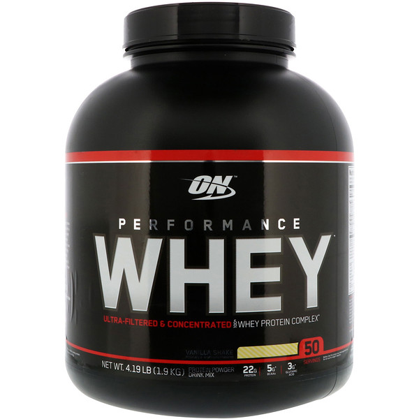 Optimum Nutrition, بيرفورمانس واي، مخفوق الفانيليا، 4.19 رطل(1.9 كجم)