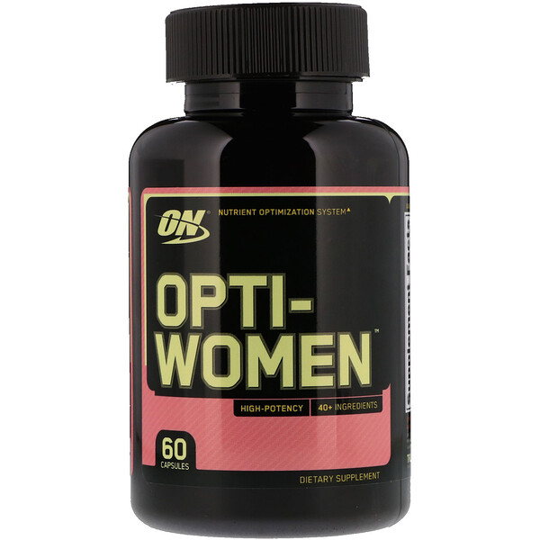 Optimum Nutrition, Opti-Women, Sistema de optimización de nutrientes, 60 cápsulas