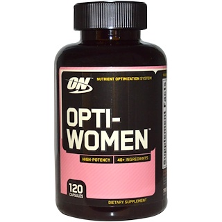 Optimum Nutrition, Opti-Women, Nutrient Optimization System, 120 cápsulas