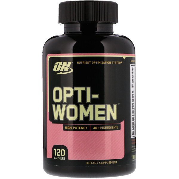 Optimum Nutrition, Opti-Women, Système d'optimisation nutritif, 120 Gélules