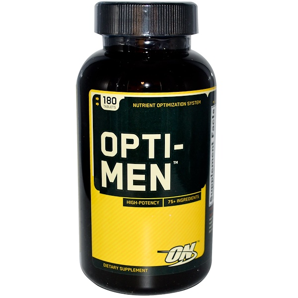 Optimum Nutrition, Opti-Men, Nutrient Optimization System, 180 Tablets (Discontinued Item)