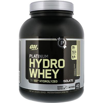 Optimum Nutrition 白金 Hydrowhey, 餅乾奶油驅動, 3.5 磅 (1.59 千克)