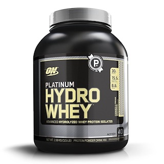 Optimum Nutrition, Platinum Hydro Whey, Cookies & Cream Overdrive, 3.5 lb  (1.59 kg)