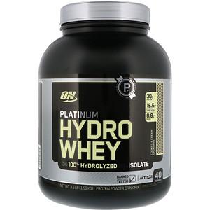 Оптимум Нутришэн, Platinum Hydro Whey, Cookies & Cream Overdrive, 3.5 lbs (1.59 kg) отзывы покупателей