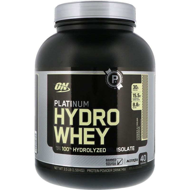 Optimum Nutrition, Platinum Hydro Whey, Cookies & Cream Overdrive, 3.5 lbs (1.59 kg)
