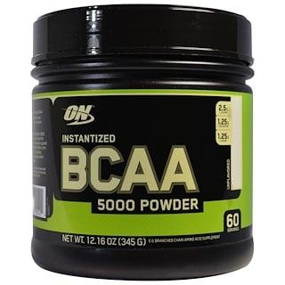 Optimum Nutrition, BCAA 5000 インスタント・パウダー飲料、無香料、 12.16 オンス (345 g)