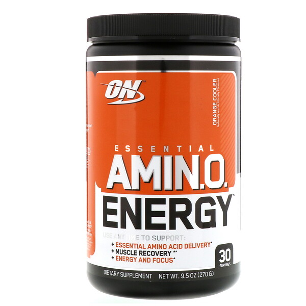 Optimum Nutrition, ESSENTIAL AMIN.O. ENERGY, Orange Cooler, 9.5 oz (270 g)