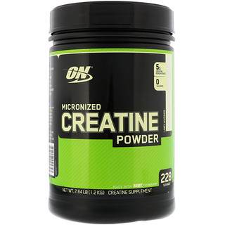 Optimum Nutrition, مسحوق كرياتين ممكرن، غير مُنَكَّه، 2.64 رطل (1.2 كغم)