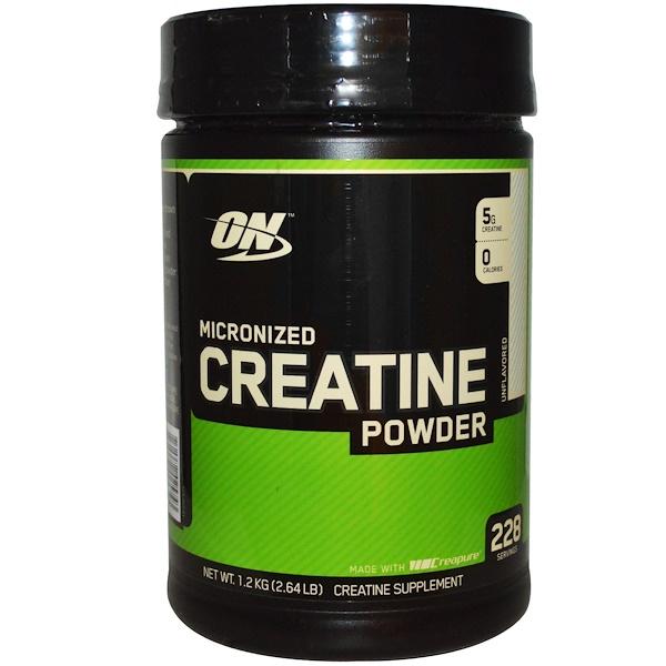Optimum Nutrition, 微粉肌酸粉,原味,2、64磅(1、2千克)