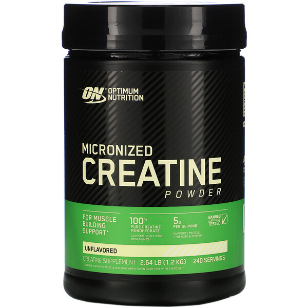 Micronized Creatine Powder, Unflavored, 2.64 lb (1.2 kg)