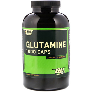 Optimum Nutrition, Glutamine 1000 Caps, 1,000 mg, 240 Capsules