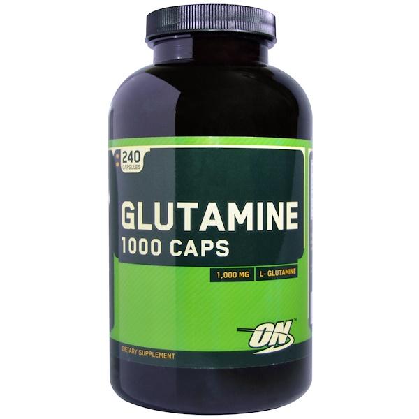 Optimum Nutrition, 谷氨酰胺,1000mg,240膠囊