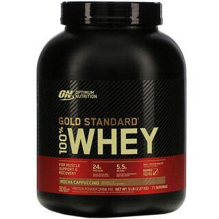 Optimum Nutrition, مصل اللبن 100% من Gold Standard، بنكهة الموكا كابتشينو، 5 رطل (2.27 جم)