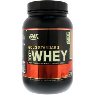 Optimum Nutrition, (オプティマムニュートリション)ゴールドスタンダード 100% ホエイ・モカカプチーノ 2ポンド (909 g)