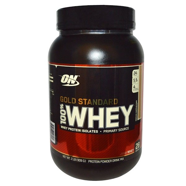 Optimum Nutrition, Gold Standard, 100% Whey, Mocha Cappuccino, 2 lbs (909 g)