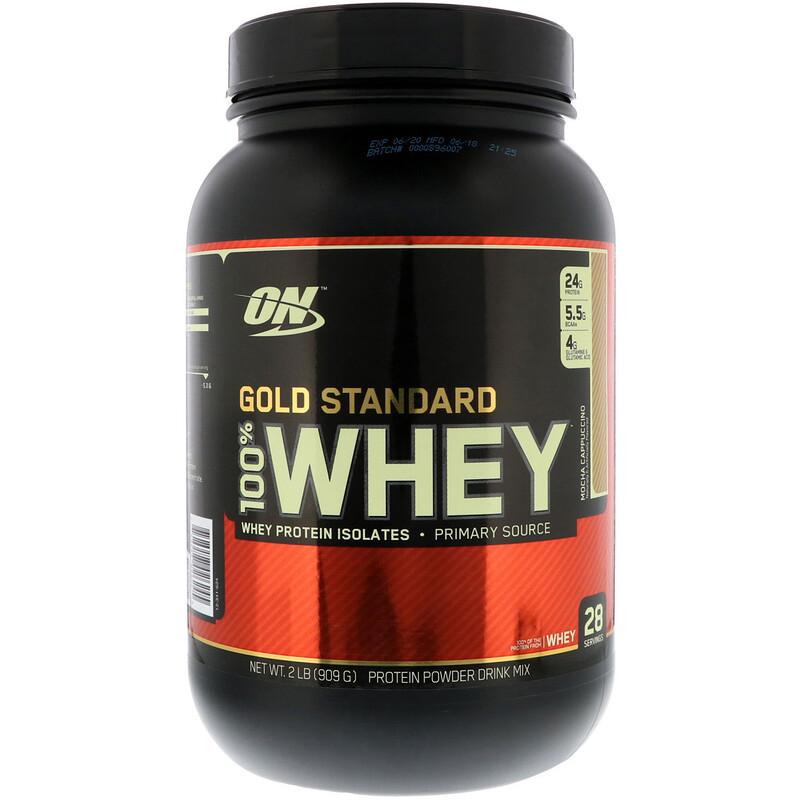 Gold Standard, 100% Whey, Mocha Cappuccino, 2 lbs (909 g)