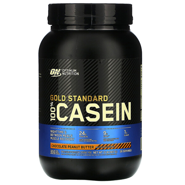 Optimum Nutrition, Gold Standard 100% Casein, Chocolate Peanut Butter, 2 lb (907 g)