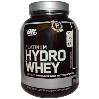Optimum Nutrition, Platinum Hydrowhey, Turbo Chocolate, 3.5 lbs (1,590 g)