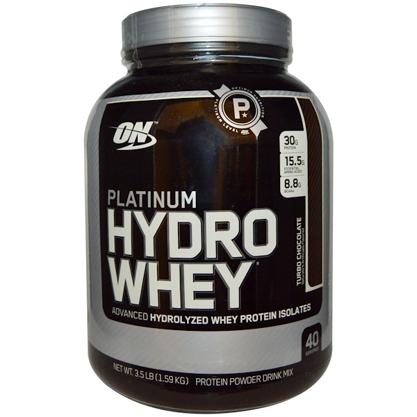Optimum Nutrition, Platinum Hydro Whey, Turbo Chocolate, 3.5 lbs (1.59 kg)