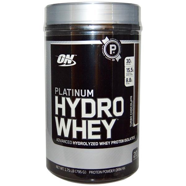 Optimum Nutrition, Platinum HydroWhey, Turbo Chocolate, 1.75 lb (795 g)