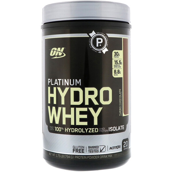 Platinum HydroWhey, Turbo Chocolate, 1.75 lb (795 g)