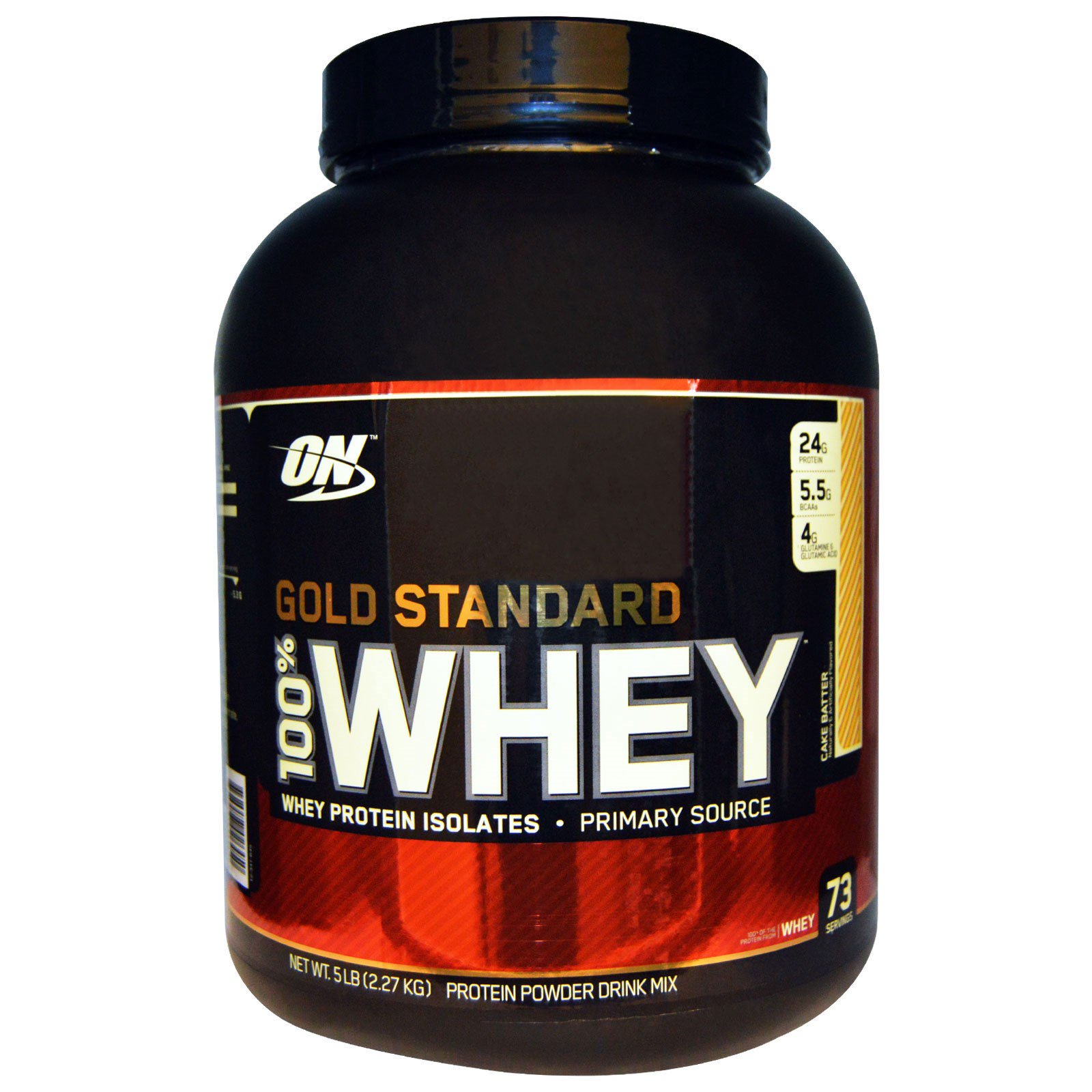 Optimum Nutrition, Gold Standard, 100% сыворотка, Cake Batter, 2,27 кг (5 фунтов)