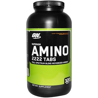 Optimum Nutrition, Superior Amino 2222 Tabs, 320 Tablets
