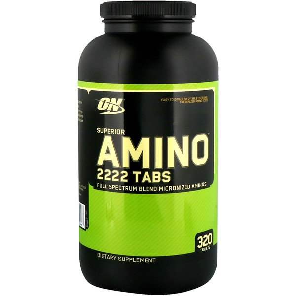 Optimum Nutrition, Superior Amino 2222 タブ、320 錠