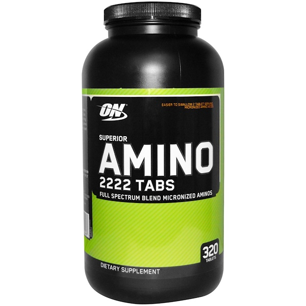 Optimum Nutrition, Superior Amino 2222 Tabs, 320 Tabletten
