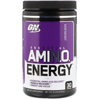Optimum Nutrition, Essential Amin.O. Energy, Concordtraube, 270 g