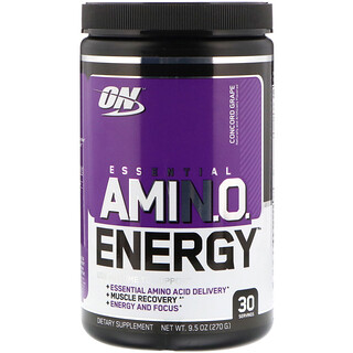 Optimum Nutrition, Essential Amin O  Energy, Concord Grape, 9 5 oz (270 g)