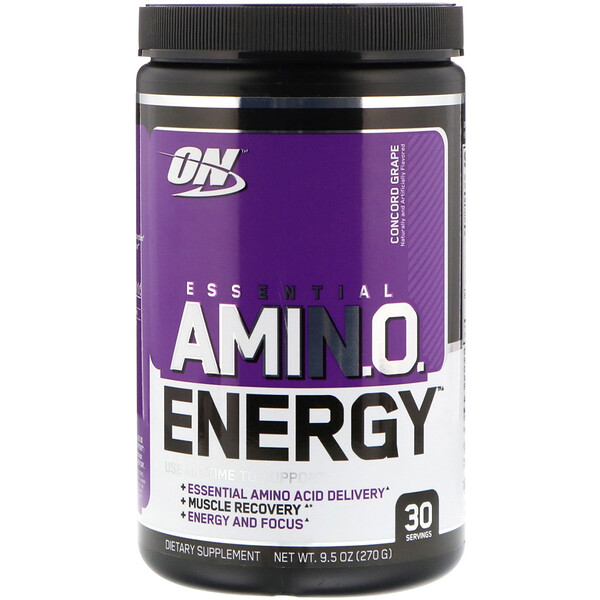 Optimum Nutrition, Essential Amin.O. Energy, Concord Grape, 9.5 oz (270 g)