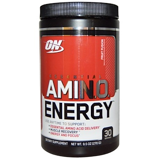 Optimum Nutrition, Essential AmiN.O. Energy, Fruit Fusion, 0.6 lbs (270 g)