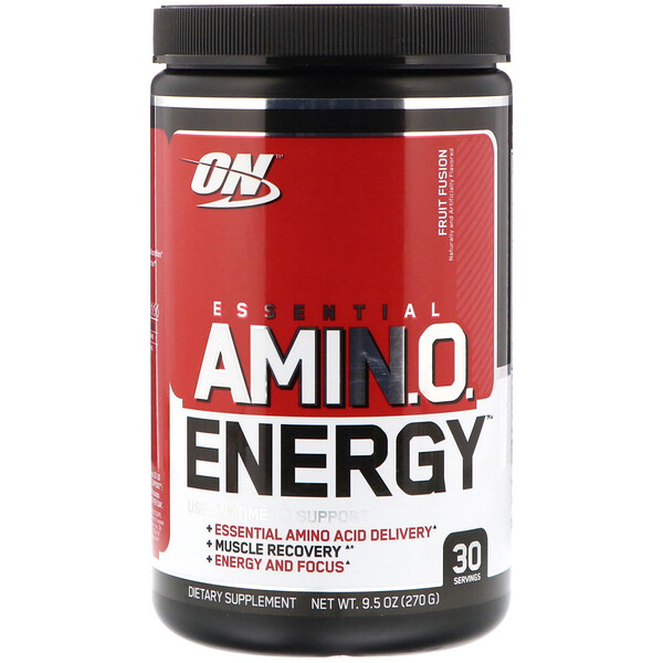 Optimum Nutrition, ESSENTIAL AMIN.O. ENERGY, Fruit Fusion, 9.5 oz (270 g)