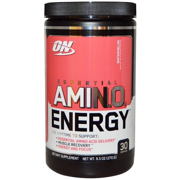 Optimum Nutrition, Essential Amino Energy, Watermelon, 9.5 oz (270 g)